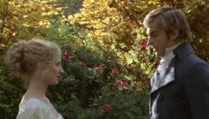 Morven Christie and Tom Mison as Jane Bennet and Charles Bingley